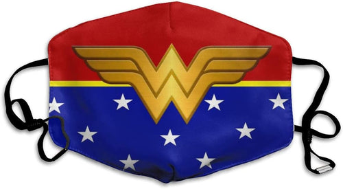 Wonder-Woman Face C-over Reusable Half Mouth S-hield Balaclava Bandanas for Outdoor -2