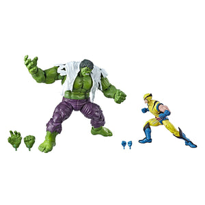Marvel Legends 80th Anniversary Hasbro Wolverine and Hulk 6-Inch Action Figure 2-Pack