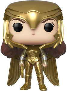 Funko Heroes: POP! Wonder Woman 1984 Collectors Set - Gold Power Pose, Gold Flying Pose, Wonder Woman with Lasso, Wonder Woman Flying