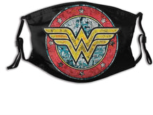Wonder Woman Outdoor Mask Adjustable Face Scarf Washable with 2 Filter Unisex