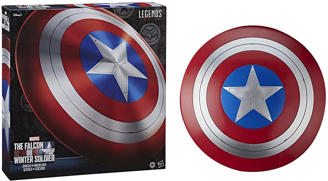 Hasbro Marvel Legends Series Avengers Falcon And Winter Soldier Captain America Premium Role Play Shield -Adult Fan -Costume/Collectible