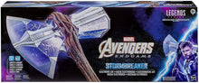 Avengers Marvel Endgame Marvel Legends Stormbreaker Electronic Axe Thor Premium Roleplay Item with Sound FX, for Fans, Collectors, and Adults