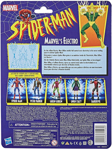 Spider-Man Hasbro Marvel Legends Series 6-inch Collectible Marvel's Electro Action Figure Toy Retro Collection
