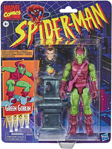 Spider-Man Hasbro Marvel Legends Series 6-inch Collectible Green Goblin Action Figure Toy Retro Collection