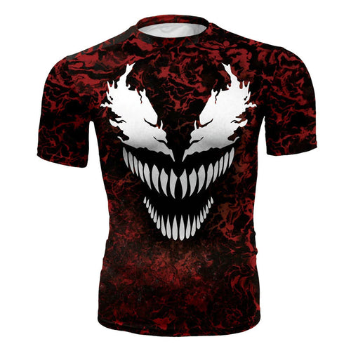 Carnage Compression T-shirt Short Sleeve Costume Quick Dry