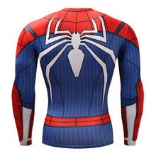 Spiderman Compression T-shirts Fitness Crossfit rash guard PS4