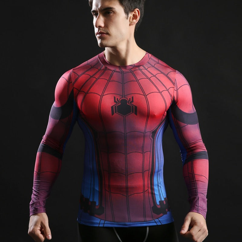 Homecoming Spiderman Compression Shirt Long Sleeve