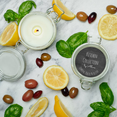 Lemon Basil & Olive Kitchen Candle