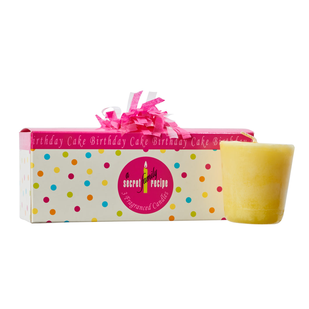 Birthday Cake Votive Gift Set