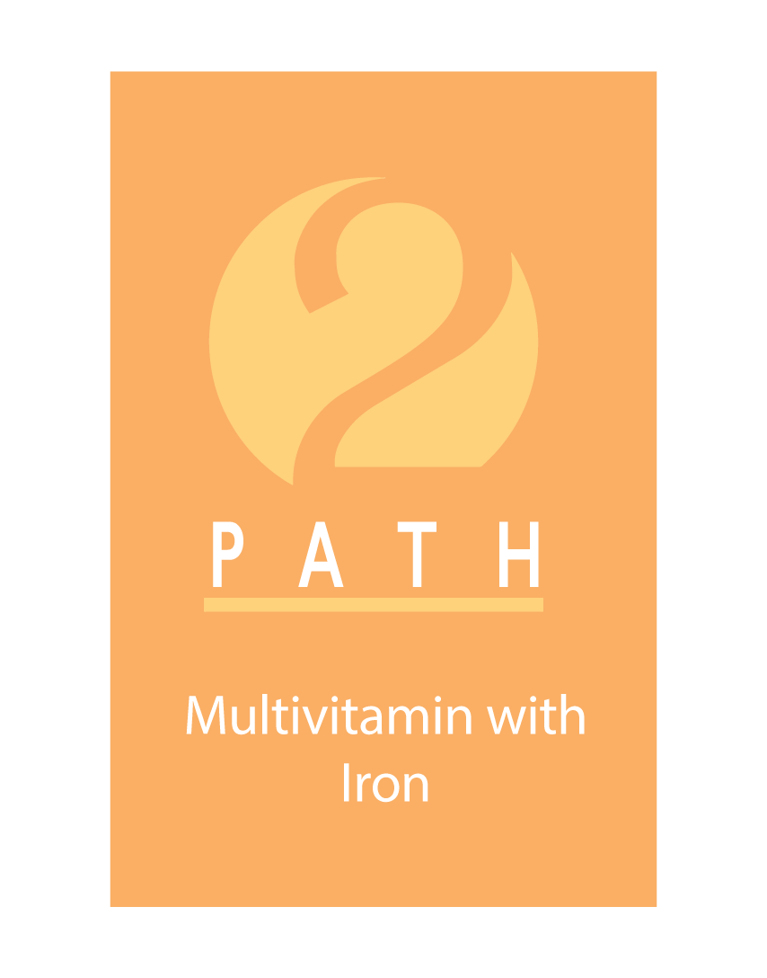 Image of Celebrate Path 2 Multivitamin with iron supplements logo with the number 2