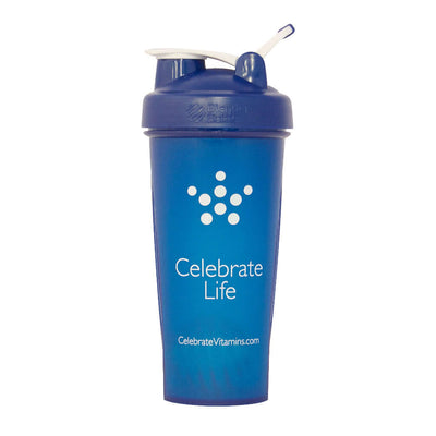 Image of Celebrate's 28 oz shaker bottle in navy