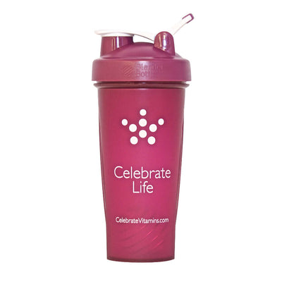 Image of Celebrate's 28 oz shaker bottle in magenta