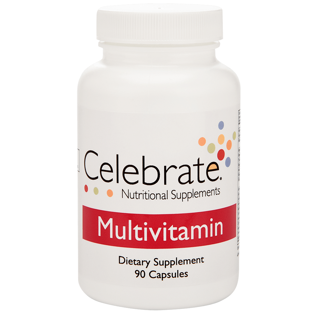 Image of Celebrate's bariatric multivitamin bottle with 90 capsules which is the 30-day supply