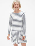 Softspun Stripe Flounce T-Shirt Dress