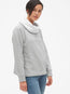 Faux-Fur Lined Funnel-Neck Pullover Sweatshirt