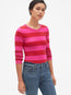 Modern Stripe Long Sleeve Crewneck T-Shirt