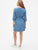 Faux-Wrap Ruffle Hem Dress in TENCEL