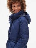 ColdControl Elongated Puffer Jacket with Cinched-Waist