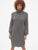 Cozy Blouson Sleeve Turtleneck Sweater Dress