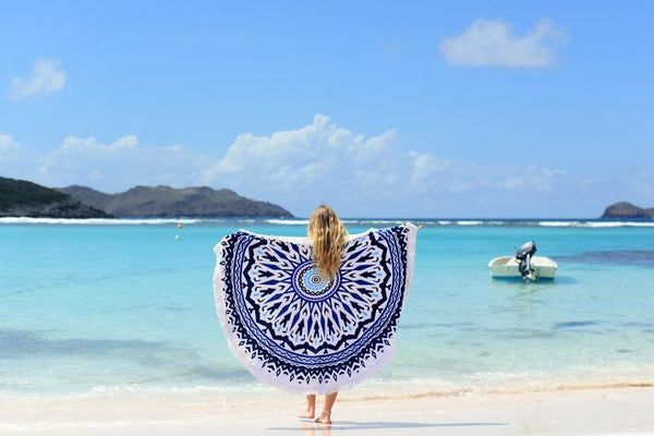 beach round towel les antillaises