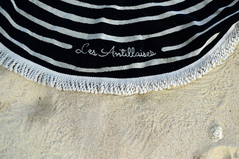 franges serviette de plage beach round towel