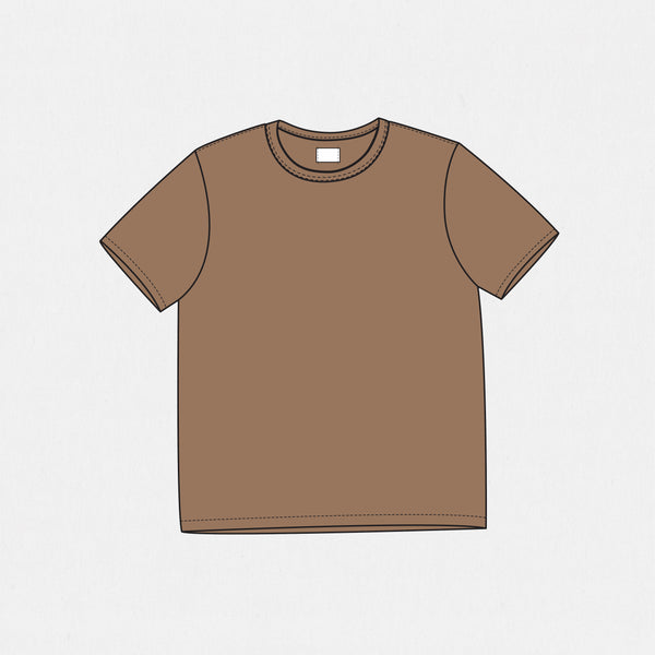GSS19200AB - Solid Tee - Brown