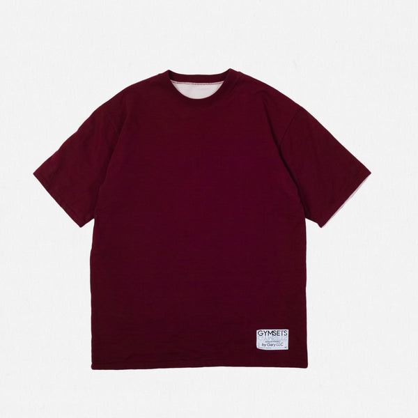 GSS19201BG - Reversible Tee - Burgundy / Natural