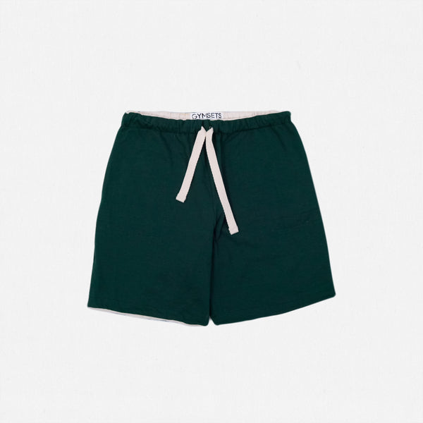 GSS19302DG - Reversible Shorts - Dark Green / Natural