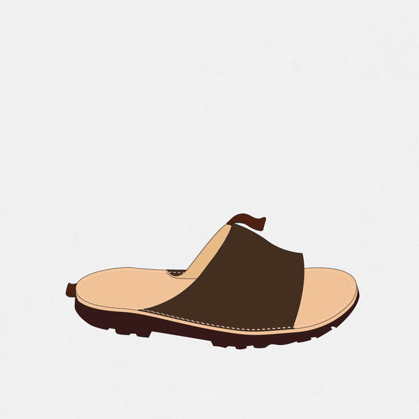GSS19400AB - Slide Sandals - Bitter Chocolate