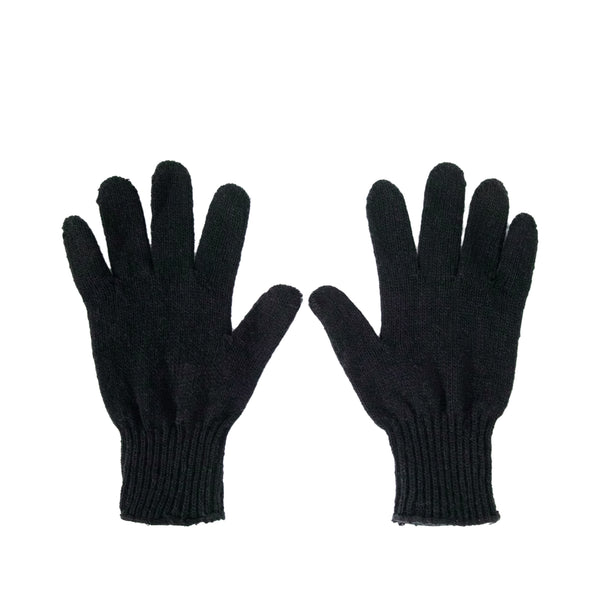 Wool Liner Gloves, Black