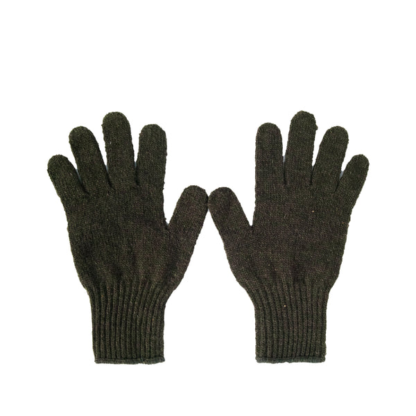 Wool Liner Gloves, Olive