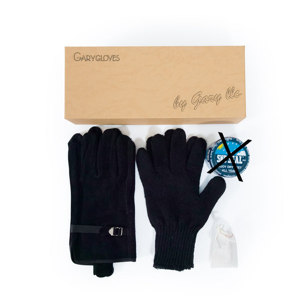 GG-03-NB Fancy Glove Set, Black (NO SNO SEAL)