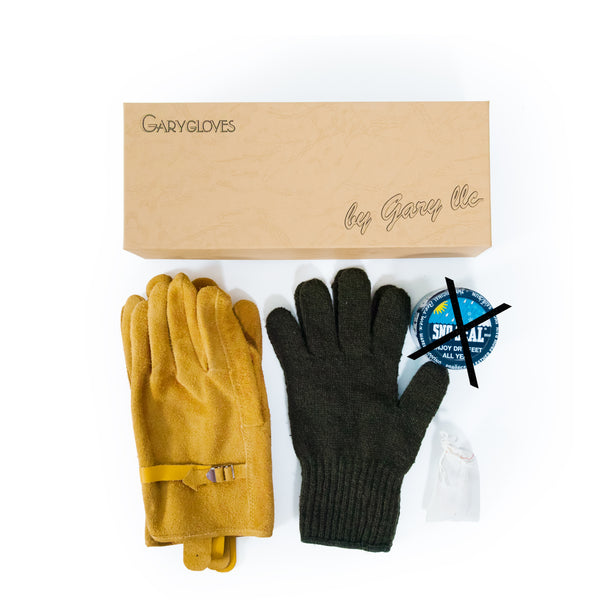 GG-03-NG Fancy Glove Set, Gold (NO SNO SEAL)
