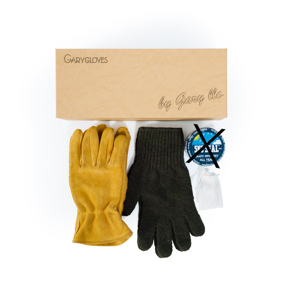 GG-02-NG Work Glove Set, Gold (NO SNO SEAL)