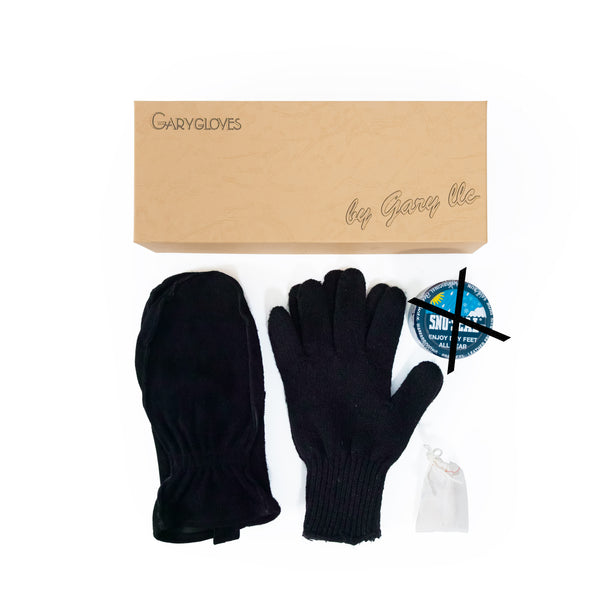 GG-01-NB Work Mitten Set, Black (NO SNO SEAL)