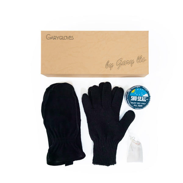 GG-01-B Work Mitten Set, Black