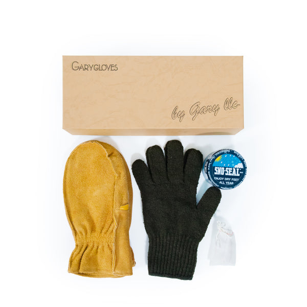 GG-01-G Work Mitten Set, Gold