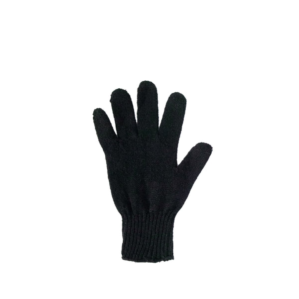Left Hand Wool Liner Glove, Black