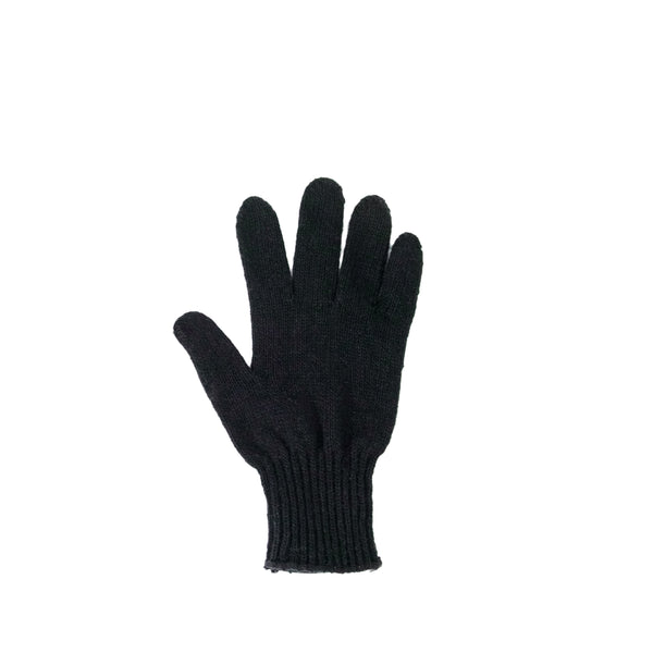 Right Hand Wool Liner Glove, Black