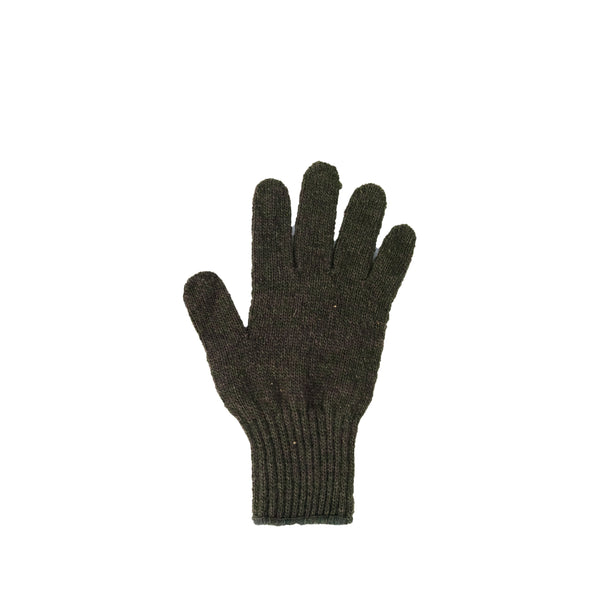 Right Hand Wool Liner Glove, Olive