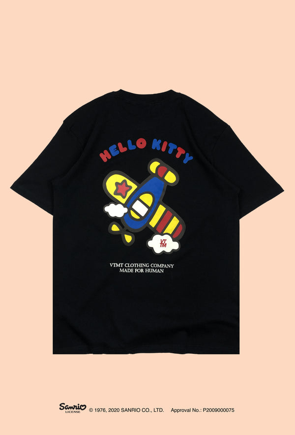 VTMT x Hello Kitty Plane Tee Black