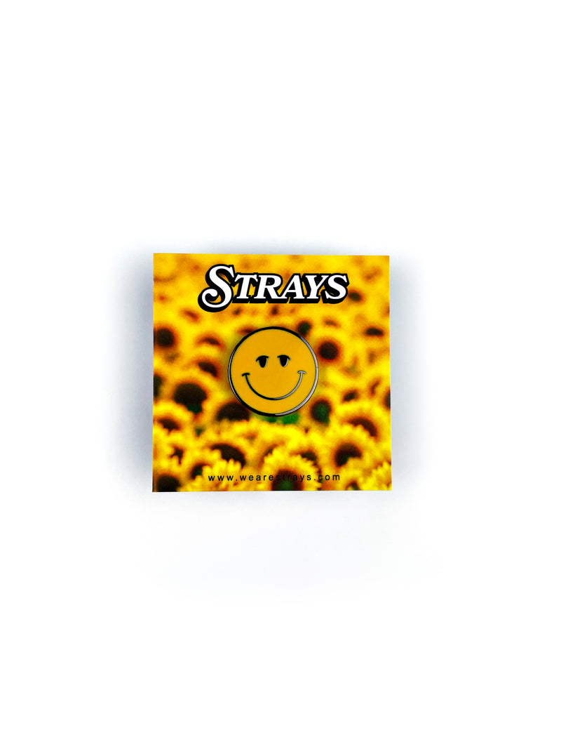 Strays | Happy Pin Yellow