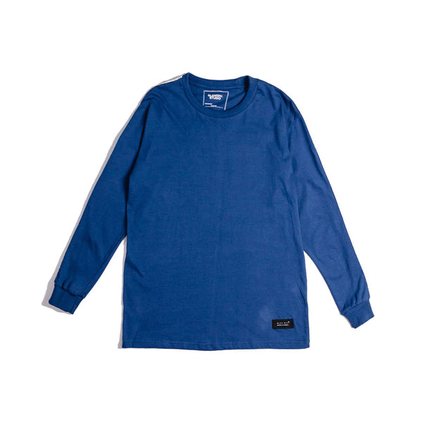 GlamDiv | Track Taping L S Tee Navy