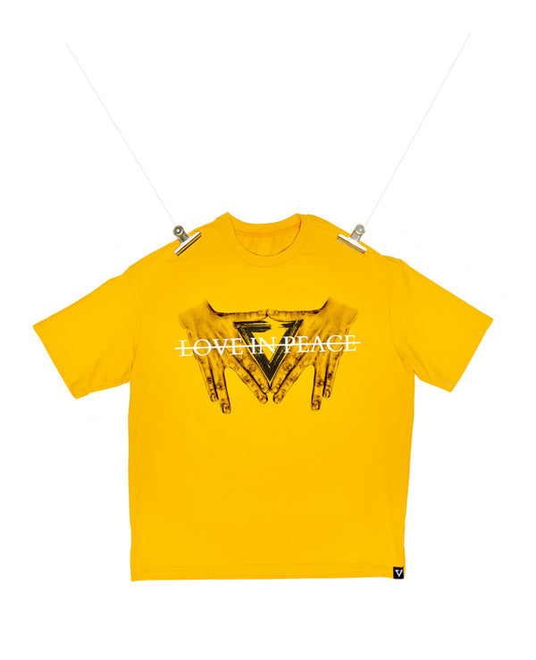 Eglaf | Love In Peace Oversized Tee Yellow