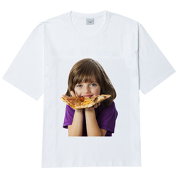 ADLV | Baby Face Pizza Tee White