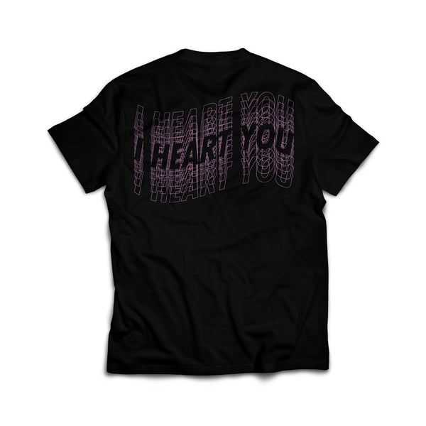 Strays | Heart Tee Black
