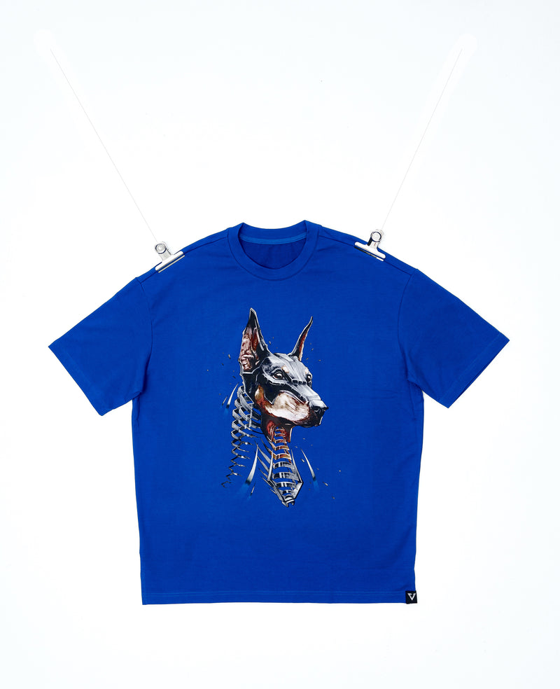 Eglaf | Doberman Oversized Tee Blue