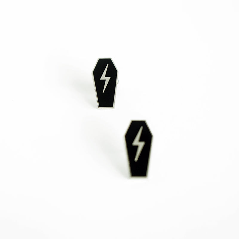 Strays | Casket Pin Black