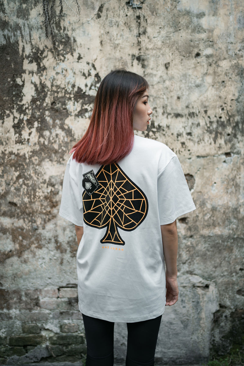 KZ | Patches Spade Tee White