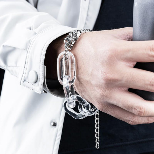 Dr Mister | Essential Lucid Twin Chain Bracelet Clear